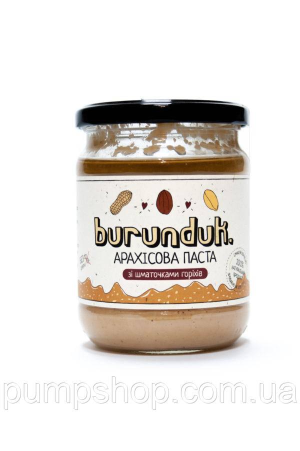 Арахисовая паста Burunduk Peanut Butter 450 г с кусочками орехов