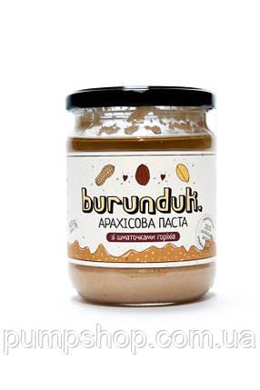 Арахисовая паста Burunduk Peanut Butter 450 г с кусочками орехов, фото 2
