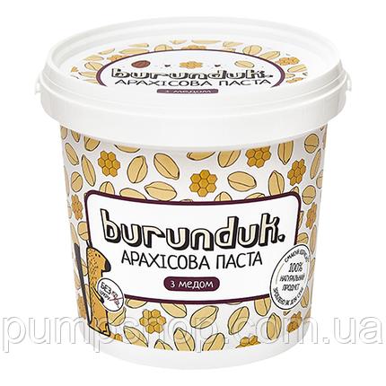 Арахісова паста Burunduk Peanut Butter 1000 м з медом, фото 2