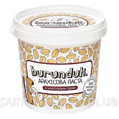 Арахисовая паста Burunduk Peanut Butter 1000 г с кусочками орехов