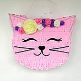 Піньята кішка кішечка паперова для свята піната Кіт котик Кітті піньята, фото 2
