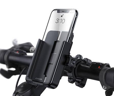 Вело-мото держатель для телефона JOYROOM JR-ZS253 Metal Bracket Черный, фото 2