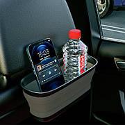 Держатель-органайзер на подголовник в автомобиль с зеркалом Hoco PH35 Черный / Серый
