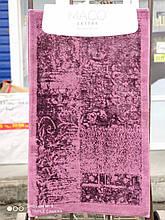 Набор ковриков люкс для ванной комнаты Macо 2 предмета Турция фиолетовые