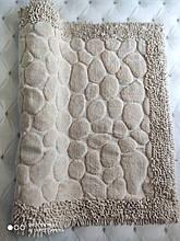 Коврик для ванной комнаты прикроватный коврик 80 на 150 см Maco Cotton Турция бежевый