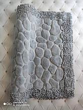 Коврик для ванной комнаты прикроватный коврик 80 на 150 см Maco Cotton Турция серый