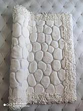 Коврик для ванной комнаты прикроватный коврик 80 на 150 см Maco Cotton Турция кремовый