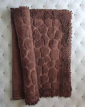 Коврик для ванной комнаты прикроватный коврик 80 на 150 см Maco Cotton Турция коричневый