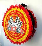 Піньята Hot Wheels хотвилс hotwheels машина машинки тачки паперова для свята барабан діаметр 30 см, фото 6