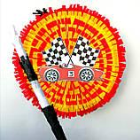 Піньята Hot Wheels хотвилс hotwheels машина машинки тачки паперова для свята барабан діаметр 30 см, фото 5