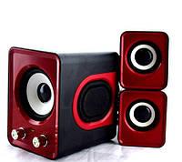 Красные компьютерные колонки акустика IS 12 220v / акустические мощные колонки / музыкальная колонка