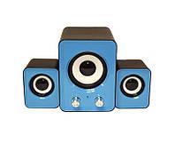 Голубые компьютерные колонки акустика IS 12 220v / акустические мощные колонки / музыкальная колонка