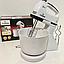 Ручний міксер з чашею 2 л Crownberg CB-7320 300 Вт, подрібнювач Віночок Чоппер Електричний Побутовий Кухонний, фото 2