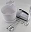 Ручний міксер з чашею 2 л Crownberg CB-7320 300 Вт, подрібнювач Віночок Чоппер Електричний Побутовий Кухонний, фото 5