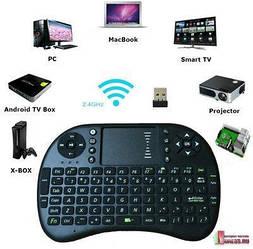 Беспроводная аккумуляторная мини клавиатура KEYBOARD i8 для смарт ТВ/ПК/планшетовМультимедийнаятачпадом