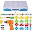 Мозаїка конструктор Puzzle Creative TLH-28 на 193 деталі TLH-28 з шуруповертом на батарейці у валізі ТОП, фото 7