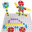 Мозаїка конструктор Puzzle Creative TLH-28 на 193 деталі TLH-28 з шуруповертом на батарейці у валізі ТОП, фото 4