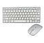 Клавіатура Російська + Мишка Бездротова W03 White Комплект з Мишкою Біла для ПК Міні мишь до Ноутбука, фото 6