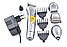 Машинка для стрижки Gemei GM 580 7 в 1 Професійна Стрижка для Волосся Тример Джемей Бороди, Носа ТОП!, фото 6