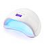 Профессиональная Светодиодная УФ Сушилка для Ногтей лампа + адаптер Sun-5 LED для маникюра 48W 100% КАЧЕСТВО, фото 5