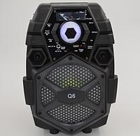 Беспроводная портативная bluetooth колонка - чемодан Q6 / профессиональная акустическая мощная колонка