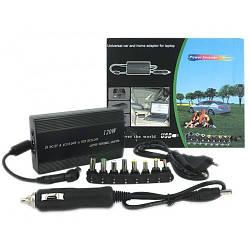 Универсальное Зарядное для Ноутбука в Авто 220В 120W Инвертор Преобразователь +Переходники 8 в 1 GBX 901 ТОП!