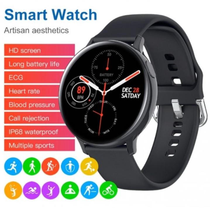 Смарт часы Smart Watch S2 Пульсометр Оксиметр Bluetooth: 4.0 Круглые Умные, розумний годинник 2 Цвета ТОП!