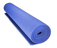 Коврик для йоги Power System Fitness Yoga СИНИЙ / Фитнес коврик / Коврик для занятия спортом