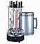 Электрошашлычница на 6 Шампурів Шашличниця 1000W з Кнопкою Электромангал, Мангал, Шашлик Будинку Вертикальна, фото 3