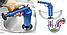 Пневматический Вантуз Toilet dredge GUN BLUE от Засора Труб, Унитаза, Ванны для Канализации, Раковины от Волос, фото 4