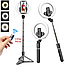 Кольцевая лампа Selfie Stick 16 диаметр для Телефона на Триноге L07 7332 селфи с Пультом Tripod на Штативе, фото 2