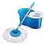 Универсальная швабра с отжимом-центрифугой и ведром Easy Mop Круглая Швабра моп для влажной и сухой уборки NEW, фото 3