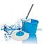 Универсальная швабра с отжимом-центрифугой и ведром Easy Mop Круглая Швабра моп для влажной и сухой уборки NEW, фото 4