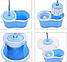 Универсальная швабра с отжимом-центрифугой и ведром Easy Mop Круглая Швабра моп для влажной и сухой уборки NEW, фото 6