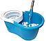 Универсальная швабра с отжимом-центрифугой и ведром Easy Mop Круглая Швабра моп для влажной и сухой уборки NEW, фото 9