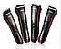 Профессиональная машинка для стрижки волос Rozia HQ-222 Триммер 4 режима (3, 6, 9, 12 мм) Время работы 8 часов, фото 6