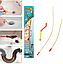 Набір для Чищення труб The Drain Weasel Plus 2 троса 60см Гнучкий Трос для Каналізації, Умивальники, туалети ТОП, фото 3