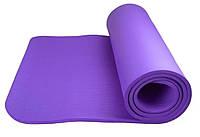 Коврик для йоги Power System Fitness Yoga ФИОЛЕТОВЫЙ / Фитнес коврик / Коврик для занятия спортом