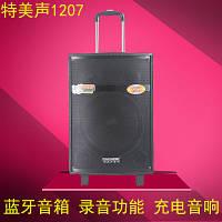 Мощная колонка Temeisheng QX 1207 на аккумуляторе с 2 микрофонами