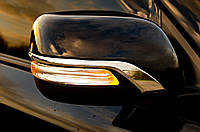 Toyota Prado 150 Смужки на дзеркала (2 шт, хром)