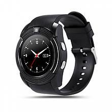 Розумні смарт-годинник Smart Watch V8. Колір: чорний