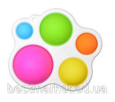 Іграшка Антистрес Бульбашки Pop It Різнобарвний