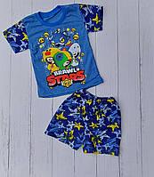 """Піжама дитяча літня BRAWL STARS на хлопчика 2-6 років """"MARI"""" купити оптом в Одесі на 7 км"""