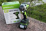 Гвинтоверт ударний акумуляторний Greenworks GD24ID3 без АКБ і ЗП, фото 3