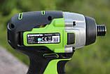 Гвинтоверт ударний акумуляторний Greenworks GD24ID3 без АКБ і ЗП, фото 5
