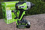 Винтоверт ударный аккумуляторный Greenworks GD24ID3 без АКБ и ЗУ, фото 2