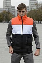 Жилет чоловічий Intruder Brand Koloritna весняний, осінній помаранчево-біло-чорний L (001SAG 1525)