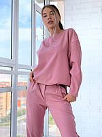 Костюм женский, стильный,  пудровый, 1207-004