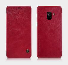 Шкіряний чохол-книжка NILLKIN для Samsung Galaxy A8 2018 A530 червоний