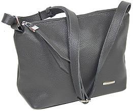Жіноча шкіряна сумка через плече Borsacomoda сіра 810.021